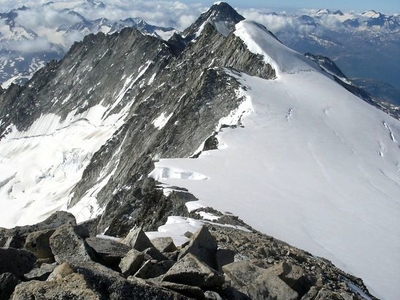 View From The Summit Toward The Galenstock