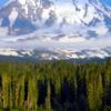 Adams Glacier Cascades Down Mount Adams