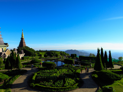 Two Chedis Near The Summit Of Doi Inthanon