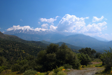View Of Psiloritis Mountains From West