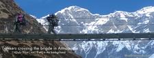 Trekkers In Annapurna