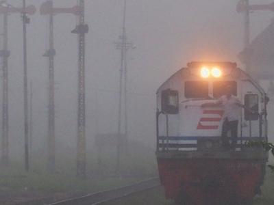Diesel Locomotive At Madiun Station