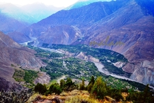 Hunza River With Annexing Valleys