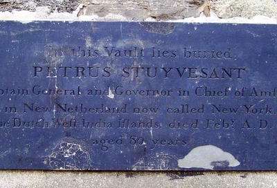 Cover Of The Burial Vault Of Peter Stuyvesant