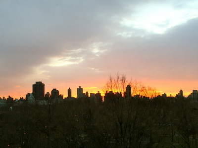 Sunrise View Of Central Park On A Winter Morning