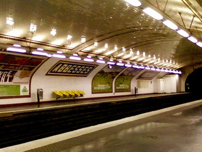 Line 12 Platforms At Abbesses