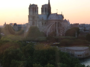 View From The Restaurant On Notre Dame