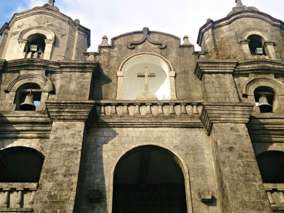 Close Up Of  Facade Of  Santuario  Del  Sto . Cristo  Parish