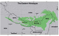 Eastern Himalaya Map