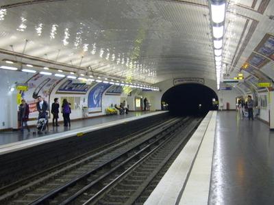 Line 12 Platforms At Notre-Dame-des-Champs