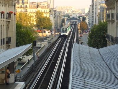 Passy Viaduct And Bir-Hakeim Station From Passy