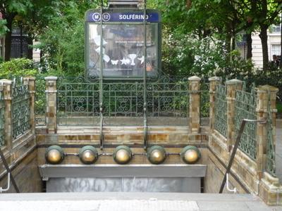 Solférino Station Entrance