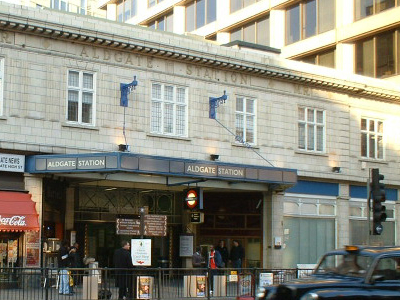 Aldgate Tube Station Entrance