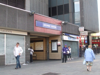 Archway Tube Station Main Entrance