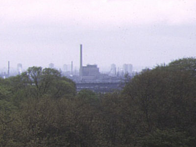 Blackwall Point Power Station From Greenwich Park