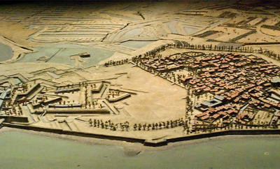 1703 Model Of Château-d'Oléron In The Museum
