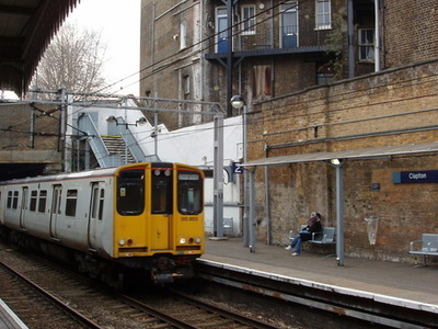 Platforms At Clapton Railway Station