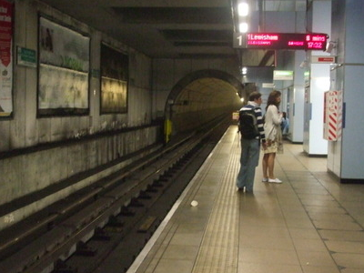Southbound Platform 1 Looking South