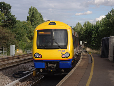 London Overground Turbostar Unit 172005 Departs
