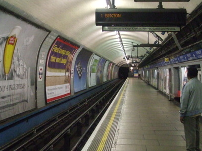 Southbound Victoria Line Platform Looking North
