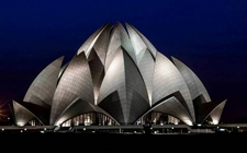 India Religious Place Delhi Lotus Temple