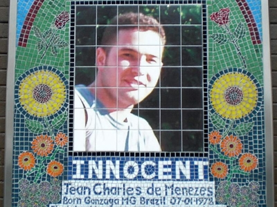 Jean Charles De Menezes, Mosaic Outside Stockwell Station