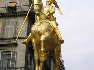 Statue Of Joan Of Arc On The Place Des Pyramides