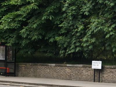 Kensington Road And Bus Stop