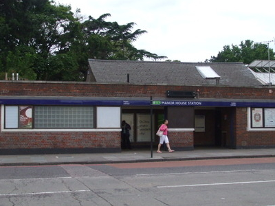 Manor House Tube Station Entrance