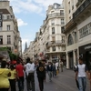 Pedestrian Rue Saint Denis In Les Halles District