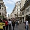 Pedestrian Rue Saint Denis In Les Halles District