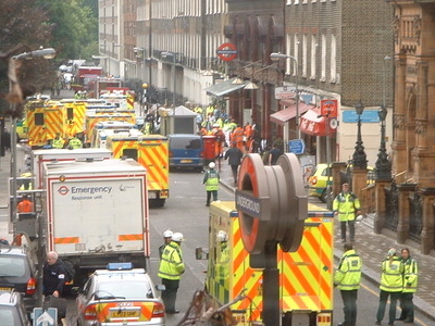 Ambulances At Russell Square