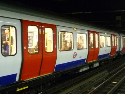 Circle Line Train In Moorgate Station