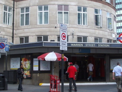 Warren Street Tube Station Entrance