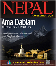 Amadablam Base At Night From Tyangboche
