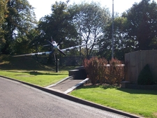 Replica Spitfire Gate Guardian Outside The Battle Of Britain Bunker