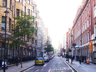 Bolsover Street Looking North From Clipstone Street