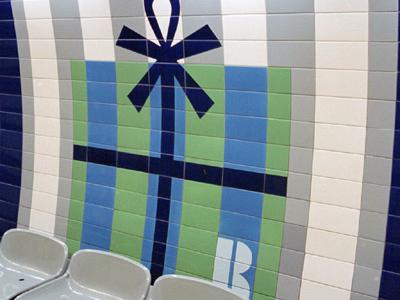 Tile-work On Jubilee Line Platform
