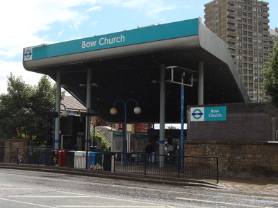Bow Church DLR Station Entrance