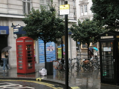 Contrasting Phone Boxes In Southampton Street