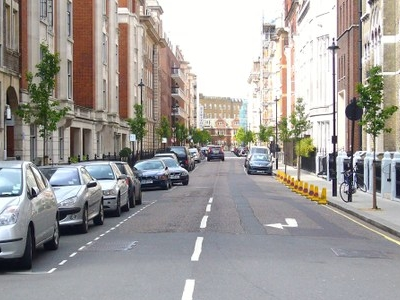 View Of Hallam Street In Marylebone