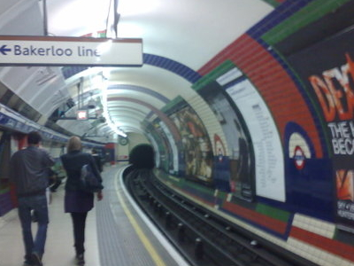 Inside Piccadilly Circus Tube Station