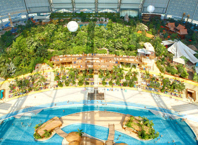 Tropical Islands Dome - Bird's-Eye View – Inside