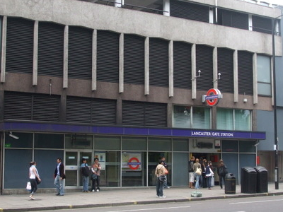 Lancaster Gate Tube Station Entrance