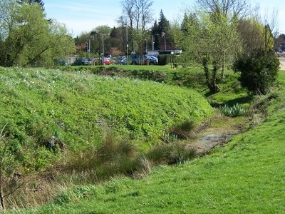 The Remains Of The Motte-and-Bailey Castle