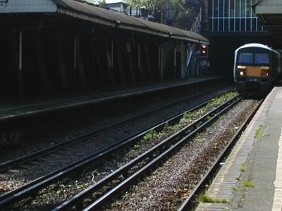A Train Arrives En Route To London Bridge