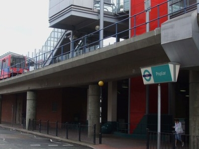 Poplar DLR Station Entrance