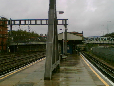 Platform Of The Royal Oak Tube Station