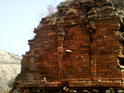 A View Of Ruined Jain Temple On Bodhikonda