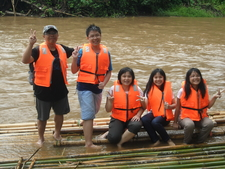 Starting Bamboo Rafting